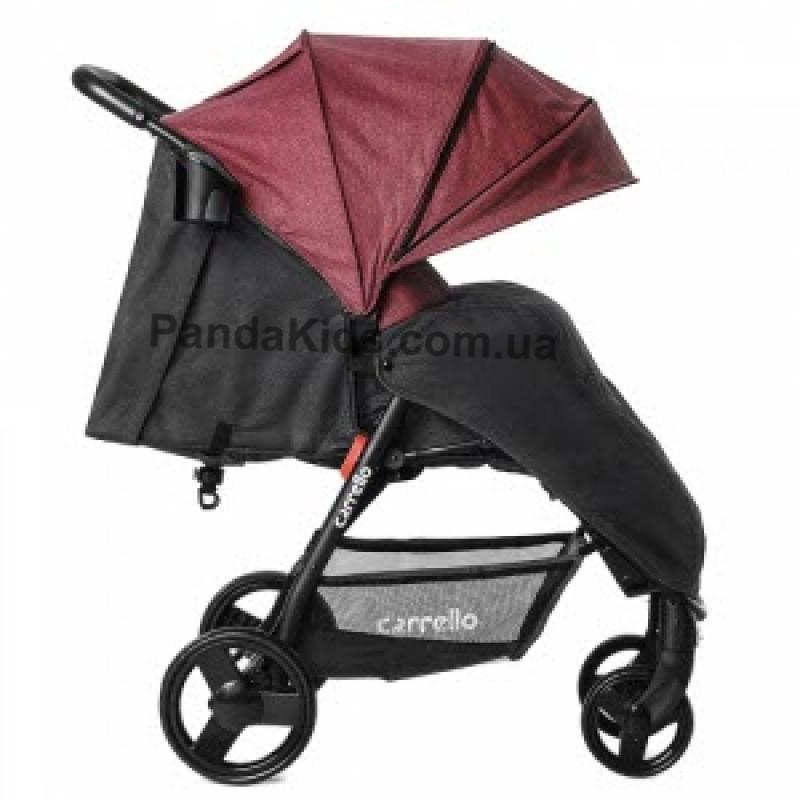 Прогулочная коляска Carrello Maestro CRL-1414/1 Strawberry Red в льне